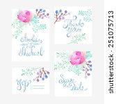 invitation card for wedding... | Shutterstock .eps vector #251075713