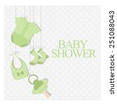 baby shower invitation. vector... | Shutterstock .eps vector #251088043