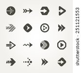 vector arrow signs. icon set 2  | Shutterstock .eps vector #251121553