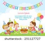 birthday party for kids   Shutterstock .eps vector #251127727