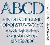 decorative blue font | Shutterstock .eps vector #251132743