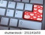 heart pattern against red enter ... | Shutterstock . vector #251141653