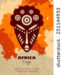 african tribal mask. vector... | Shutterstock .eps vector #251144953