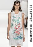 Small photo of New York, NY - September 7, 2014: Alexia Bellini walks the runway at Vivienne Tam show during Mercedes-Benz Fashion Week Spring 2015 at The Salon at Lincoln Center