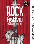 rock music poster template.... | Shutterstock .eps vector #251161183