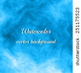 blue watercolor background.... | Shutterstock .eps vector #251175523