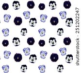 seamless violet  flower pattern ... | Shutterstock .eps vector #251202247