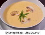 cream soup with mushrooms and...