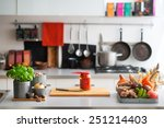closeup on table with... | Shutterstock . vector #251214403