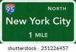 new york city usa interstate... | Shutterstock . vector #251226457