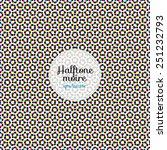 Halftone Moire. Seamless Vecto...