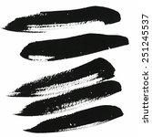 black strips | Shutterstock . vector #251245537