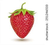 strawberry isolated on white.... | Shutterstock .eps vector #251246533