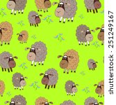 seamless texture sheep meadow | Shutterstock .eps vector #251249167