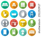 furniture decorative icons set  ... | Shutterstock .eps vector #251252917