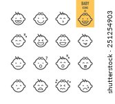 baby icons. emotional baby.... | Shutterstock .eps vector #251254903