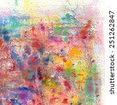 Abstract Painting On Paper In...