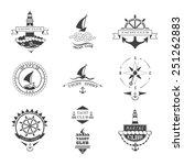 set of yacht club logos. | Shutterstock .eps vector #251262883