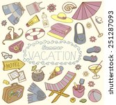 template for card of vacation.... | Shutterstock .eps vector #251287093