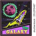 galaxy pop art poster pop art... | Shutterstock .eps vector #251295487