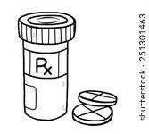medicine pill and bottle  ... | Shutterstock .eps vector #251301463