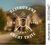 Restaurant Logo Template With...