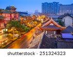 Chengdu  China Cityscape Over...