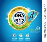 vitamin for kids vector | Shutterstock .eps vector #251326177