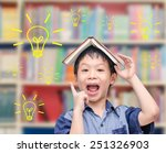 young asian boy thinking with...   Shutterstock . vector #251326903