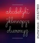 neon hand lettering drawn font. ... | Shutterstock .eps vector #251327803