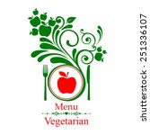 vegetarian menu. design... | Shutterstock .eps vector #251336107