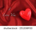 valentine's day greeting card... | Shutterstock . vector #251338933