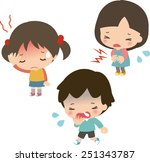sick children | Shutterstock .eps vector #251343787