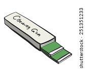 chewing gum. a children's... | Shutterstock .eps vector #251351233