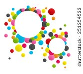 colorful circle abstract... | Shutterstock .eps vector #251354533