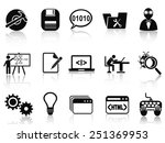 program development icons set | Shutterstock .eps vector #251369953