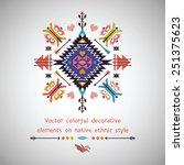 vector bright decorative... | Shutterstock .eps vector #251375623