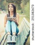 young beautiful brunette... | Shutterstock . vector #251382673