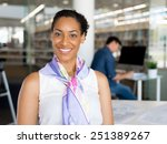 young woman in an office | Shutterstock . vector #251389267