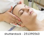 massage and facial peels at the ... | Shutterstock . vector #251390563