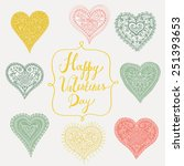 happy valentines day | Shutterstock .eps vector #251393653