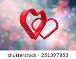 linking hearts against light... | Shutterstock . vector #251397853