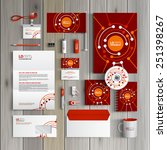 red corporate identity template ... | Shutterstock .eps vector #251398267