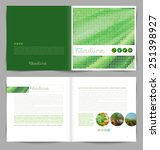 vector template booklet design  ... | Shutterstock .eps vector #251398927