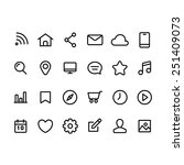 set of quality icons for web... | Shutterstock .eps vector #251409073