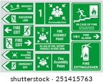 set of emergency exit sign ... | Shutterstock .eps vector #251415763