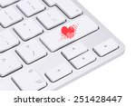 love concept  love key on the... | Shutterstock . vector #251428447