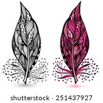 decorative feathers | Shutterstock .eps vector #251437927
