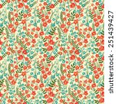 floral seamless pattern with... | Shutterstock .eps vector #251439427