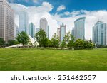 city park with modern building... | Shutterstock . vector #251462557